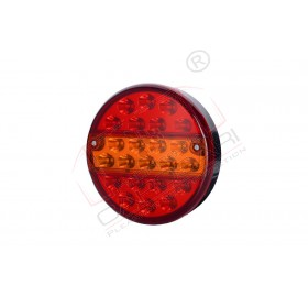 Multifunction rear LED light position,brakes, turn, with 23 LED HOR 70, 12/24v, cable, 4x0,5mm, 2m, rear position light, brakes, rear direction indicator