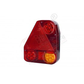 Multifunction rear light with a triangle reflector left