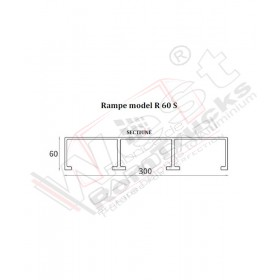 Aluminium ramps 1 to - 2 m