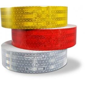 VC 104+ Curtain Grade - Banda adeziva reflectorizanta pentru suprafete flexibile - role culori alb galben rosu